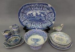 A Copeland & Garrett late Spode blue and