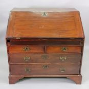 A mahogany bureau, 18th century and late