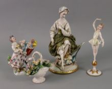 A collection of three Italian porcelain