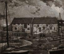 P. I. Hodgson, Eling Mill, black & white