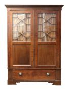 A George III style mahogany boxwood stru