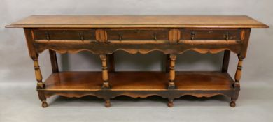 A reproduction late 17th century oak low