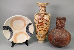 A Japanese Satsuma baluster vase, Meiji,