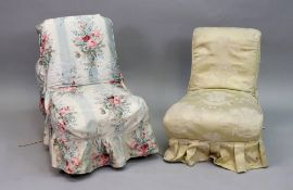 Two child's Victorian upholstered chairs