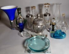 Glassware, comprising; 20th century and later decorative glass items including bowls, jugs,
