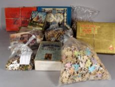 A quantity of vintage wooden jigsaw puzzles including; Tucks Zig-Zag, Parker Bro's Pastime puzzle,