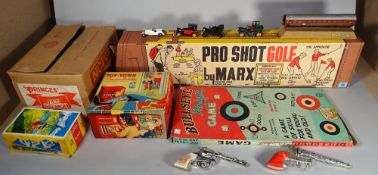 A quantity of vintage games and collectable toys,