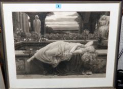 After Frederic, Lord Leighton, Summer Slumber, artists proof mezzotint by John Miller, 40cm x 55cm.