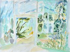 Liz Keyworth (late 20th century), Australia House; Garden Corner II, two watercolours,