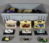 Toys; mainly modern Corgi, matchbox cars and commercial vehicles, (qty).