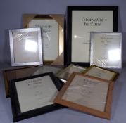 A quantity of 20th century picture frames of various sizes, the largest 50cm wide x 80cm high,