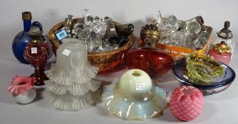 Glassware, including; mainly 20th century cut glass decanter stoppers,