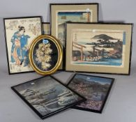 A group of six 20th century Japanese prints,