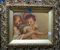 G. Gaggio (19th/20th century), Study of cherubs, watercolour, signed, 19cm x 24cm.