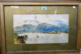 Edwin Earp (19th/20th century), Loch scenes, a pair, both signed, each 26.5cm x 49.5cm, (2).