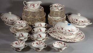 A Minton Ancestral floral decorated tea and coffee service.