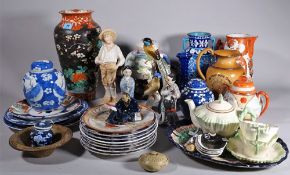 English and Asian ceramics, including; mainly modern bowls, jugs, vases and sundry, (qty).