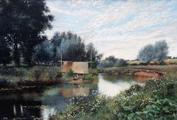 H. Donald Smith (19th/20th century), River scene, oil on canvas, signed, 40cm x 60cm.