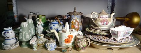 Assorted ceramics, mostly English to include; Spode, Derby, Staffordshire, Wedgwood and sundry,