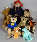Toys comprising; mainly teddy bears including Paddington and Steiff, (qty).
