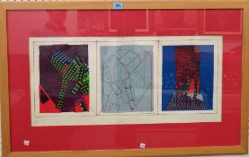 British School (20th century), 'Void', colour screenprint, indistinctly signed,