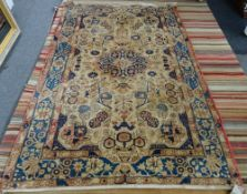 A washed Malayer rug, 240 x 153cm.