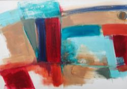 Jen Bickley (contemporary), Abstract, oil on canvas, unframed, signed and dated July '09 on reverse,