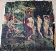 Continental School (20th century), Classical figures in a glade, oil on canvas, unframed,