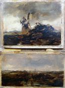 Attributed to John Faed (1818-1902), Landscape sketches, two, oil on card,