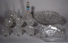 A quantity of mixed cut glass and crystal table wares, (qty).