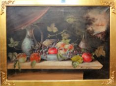 Francesco Giordano (20th century), Still life, oil on canvas, signed, further signed on reverse,