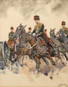 Joan Wanklyn (British, 1924-1999), The Royal Artillery, signed and dated,