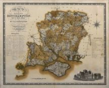 A map of the county of Southampton,