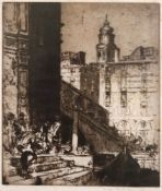 Frank Brangwyn (British, 1867-1956), The Rialto, Venice,