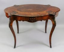 A Louis XV style kingwood rosewood ebonised inlaid and gilt metal mounted writing table, circa 1870,