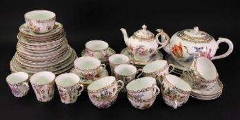 A colection of Dresden and other German porcelain tea and coffee wares,