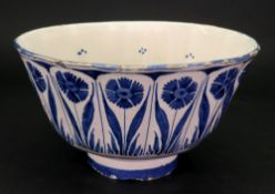 A Dutch Delft blue and white circular bowl, late 18th century,