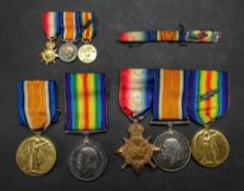 A First World War medal, 1914-15 Star and Victory medal with mention in dispatches to F., 1669 G. G.