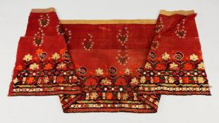 An Indian embroidered rectangular hanging,