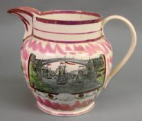A Sunderland lustre baluster jug, early 19th century,
