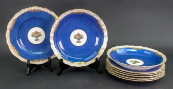 A Spode Copelands china eight piece dessert service,