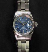Tudor; a lady's Princess Oysterdate stainless steel bracelet wristwatch, model number 92400,