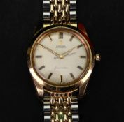 Omega; a gentleman's Seamaster gilt metal and stainless steel wristwatch,