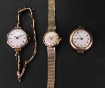 Griffon; a lady's 9ct gold cased wristwatch, the circular silvered dial,