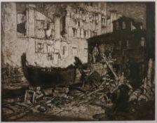 Frank Brangwyn (British, 1867-1956), Boatbuilders, Venice, signed in pencil,