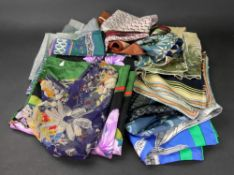 A collection of seven Jacqmar silk scarves and various others (16).