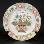 A Chinese famille verte large dish, Kangxi,