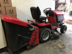 A Westwood 614cc ride on tractor mower, with grass collection box, manufactured 2012.