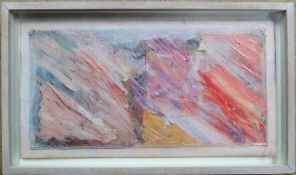 David Lawson (contemporary), Untitled, mixed media and collage, 15cm x 30cm.