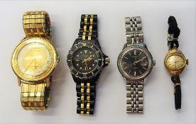A Bulova Selfwinding gilt metal circular cased gentleman's wristwatch,